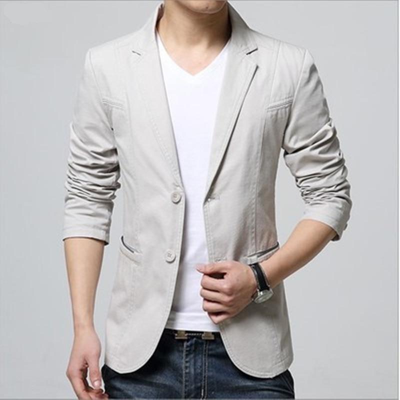 2020 New Arrival Luxury Men Blazer New Spring Fashion Brand High Quality Cotton Slim Fit Men Suit Terno Masculino Blazers Men