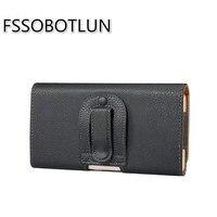FSSOBOTLUN 5 5 6 0 Inch High Quality PU Leather Holster Belt Clip Waist Case Bag