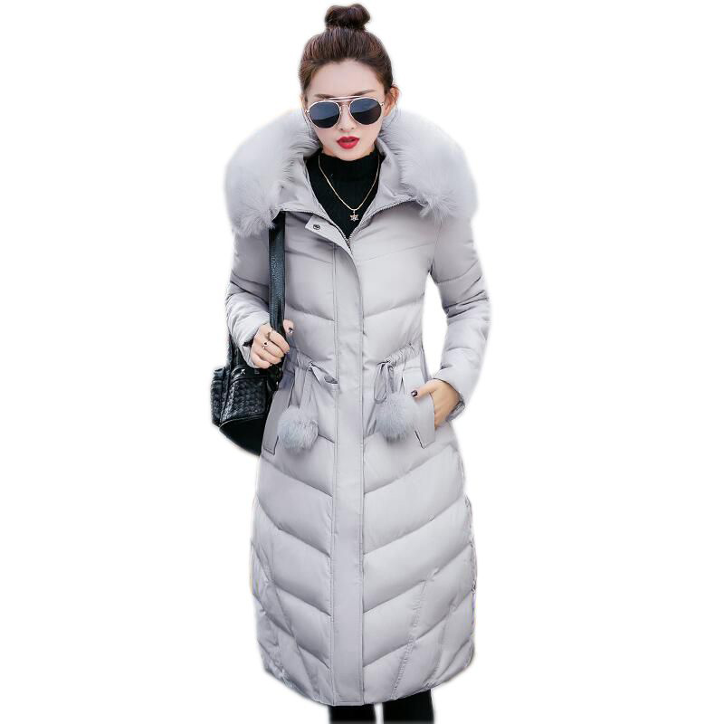 2017 New Winter Women Parkas Fashion Hooded Thick Super Warm Long Cotton Coat Casual Slim Female Jacket Winter Coats FP0080 2017 new winter fashion women down jacket hooded thick super warm medium long female coat long sleeve slim big yards parkas nz18