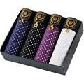 O envio gratuito de alta qualidade roupa interior dos homens buraco Quatro peças embalado caixas de presente Respirável calções homens modal material tamanho L-3XL