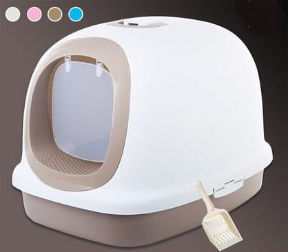 Extra large luxury totally enclosed basin of cat litter The big fat cat toilet The cat bedpan antibacterial deodorant 62*46*44cm