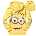 2016 kids clothing fashion boy Despicable Me Minions hoodies Long Sleeve Terry Hooded Jumper Cartoon Hoodies Outerwear 5pcs/lot