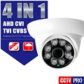 HD CVI TVI CVBS AHD Camera 1080P Outdoor With Dial Switch Cable 4 In 1 3.6mm IR 20M Night Vision 2MP Dome CCTV Camera Security