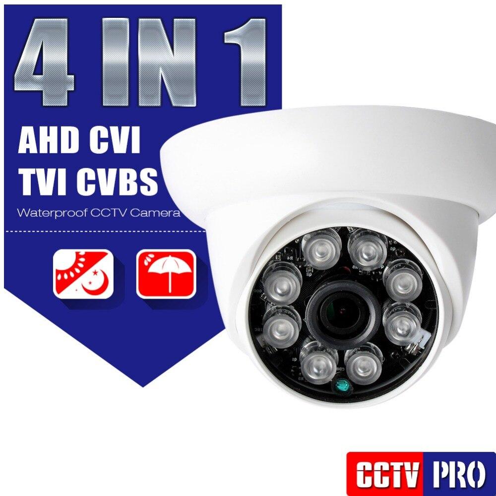 bilder für HD CVI TVI CVBS AHD Kamera 1080 P Outdoor Mit Wahlschalter Kabel 4 In 1 3,6mm IR 20 Mt Nachtsicht 2MP Dome Cctv-kamera sicherheit