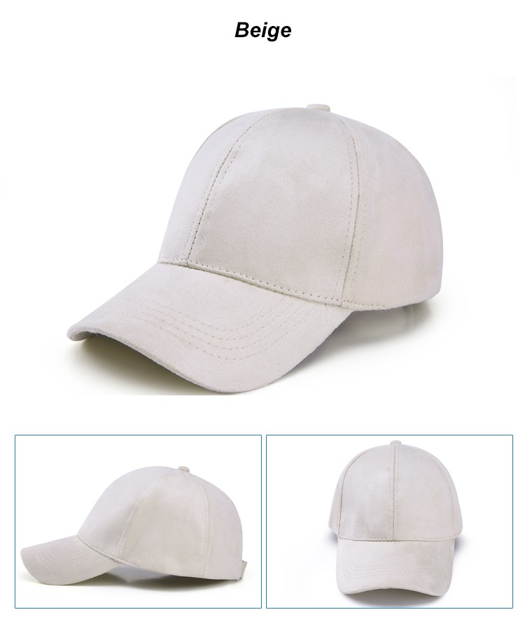 WEARZONE Unisex Soft Suede Baseball Cap Casual Solid Sports Hat Adjustable Breathable Dad Hats for Women Men 15