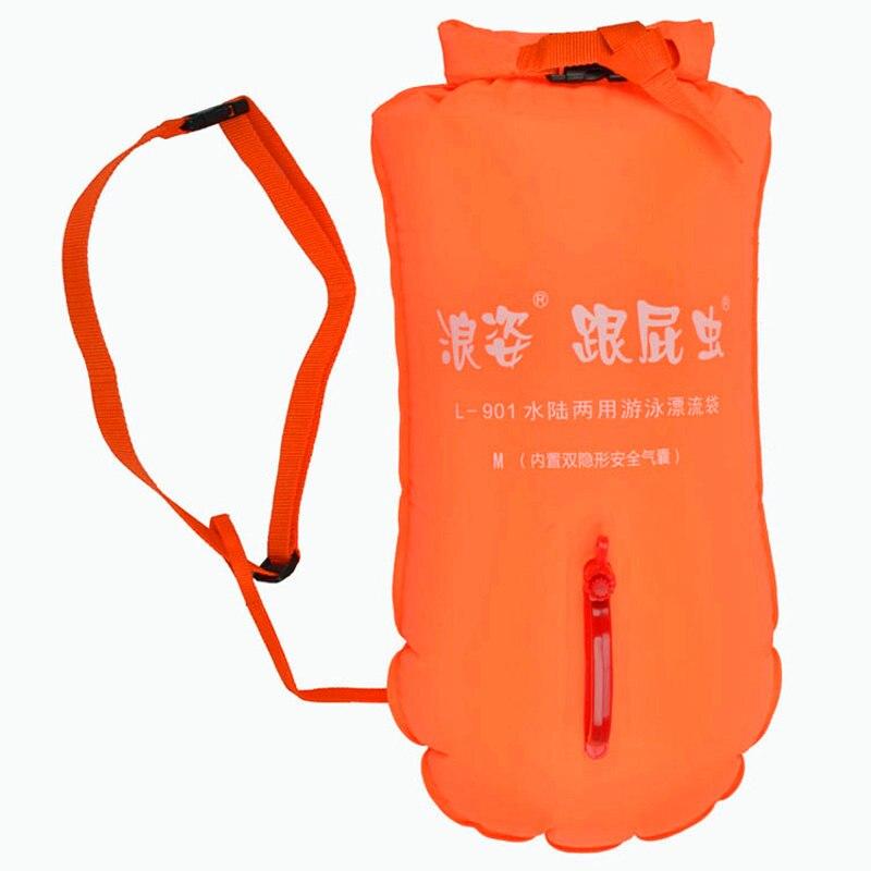 Double Airbag Indépendant De Natation Sacs PVC Matériel Combo Sec Humide Sac Flottant Bouée Dérivante Taille Safe Lock Anneau De Natation Sacs