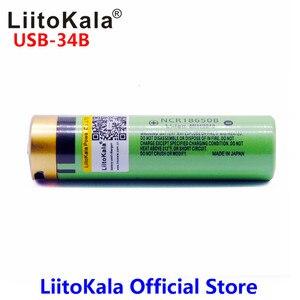 Image 4 - LiitoKala USB 34B 3.7V 18650 3400mAh Li ion USB şarj edilebilir pil LED gösterge ışığı ile DC şarj