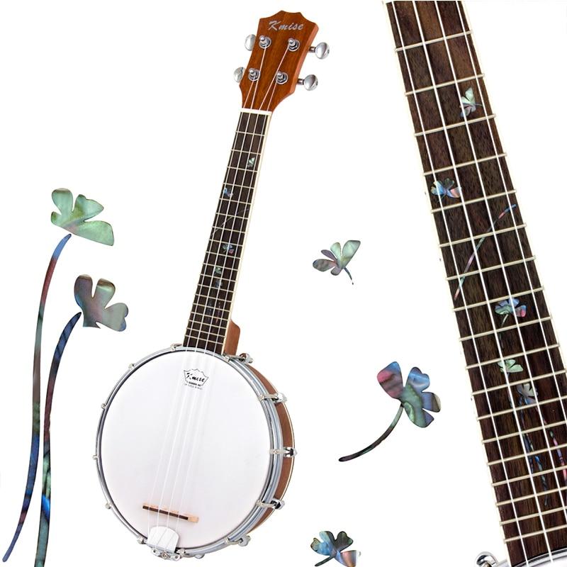 Kmise Banjo Ukulele Ukelele Uke Concert 4 String 23 Inch Sapele Wood