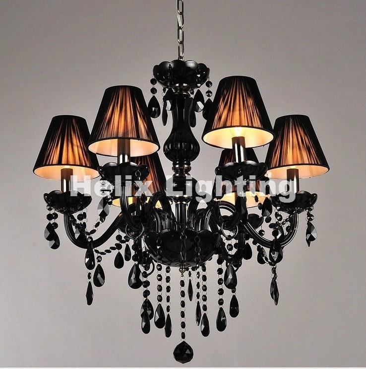Modern Chandelier Wholesale: Modern Black European Crystal Chandelier Black Lights