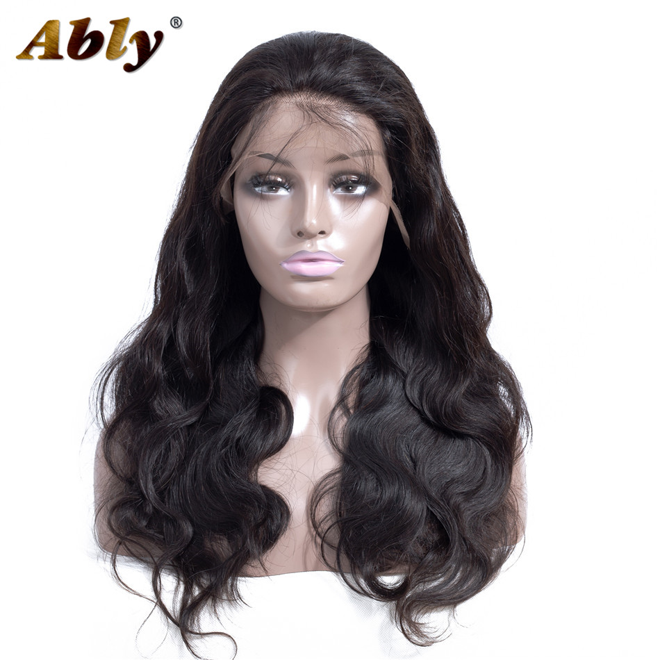 Lace Front Human Hair Wigs For Women Pre Plucked Hairline With Baby Hair Ably 150% Brazilian Remy Body Wave Human Hair Wigs