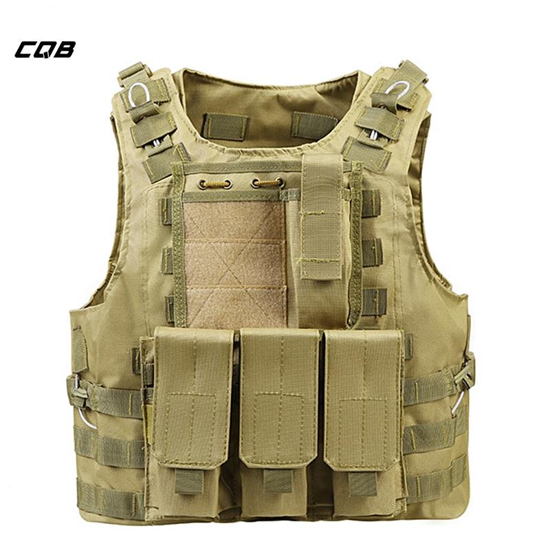 CQB Sports de Plein Air Camping Tactique Militaire Airsoft Gilet Molle Combat Assault Plate Carrier Vest pour la Randonnée Gilet CS