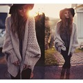Sweater New Knitted Cardigans for women Long Sleeve Wild loose big size lady sweaters High Quality Autumn Winter Style