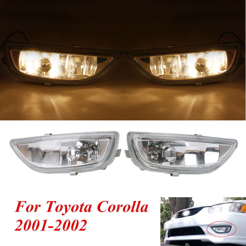 Front Bumper Fog Light For Toyota Corolla S CE LE 4-Door 2001 2002 Car Headlight Lamp Assembly Left & Right #PDK645 right combination headlight assembly for lifan s4121200