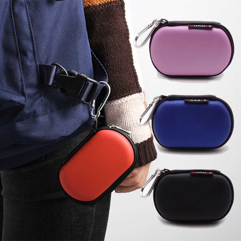 Portable Carrying Storage Cases for Headphone Earphone Bags HDD Cable Organizer bags foe USB Memory Cards Earphone Accessories