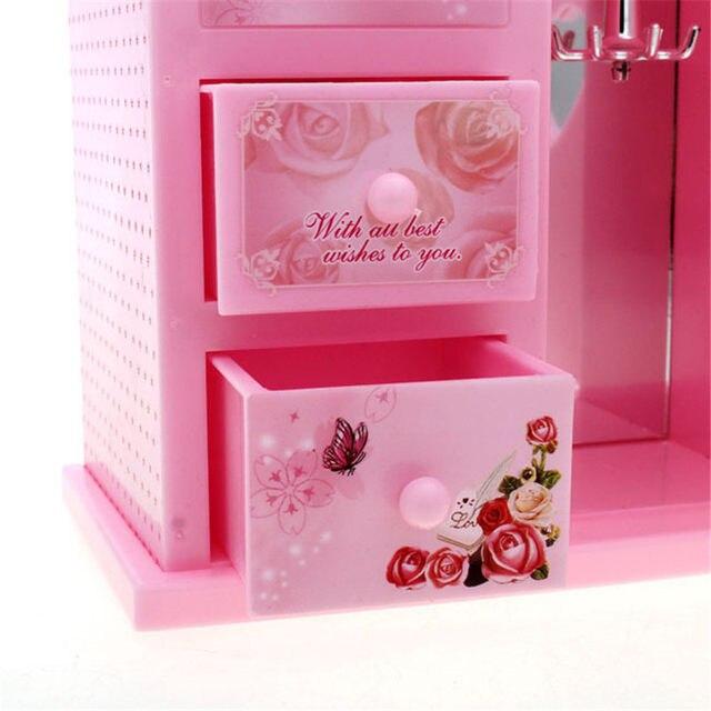 Love Girl Ballerina Music Box Clockwork Dancing Girls Musical Jewelry Box  Cabinet Diy Music Boxes For Sale Wedding Birthday Gift