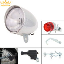 6V 3W Bicycle Cycling Dynamo Lights Set Safety Headlight Rearlight LED Lamp