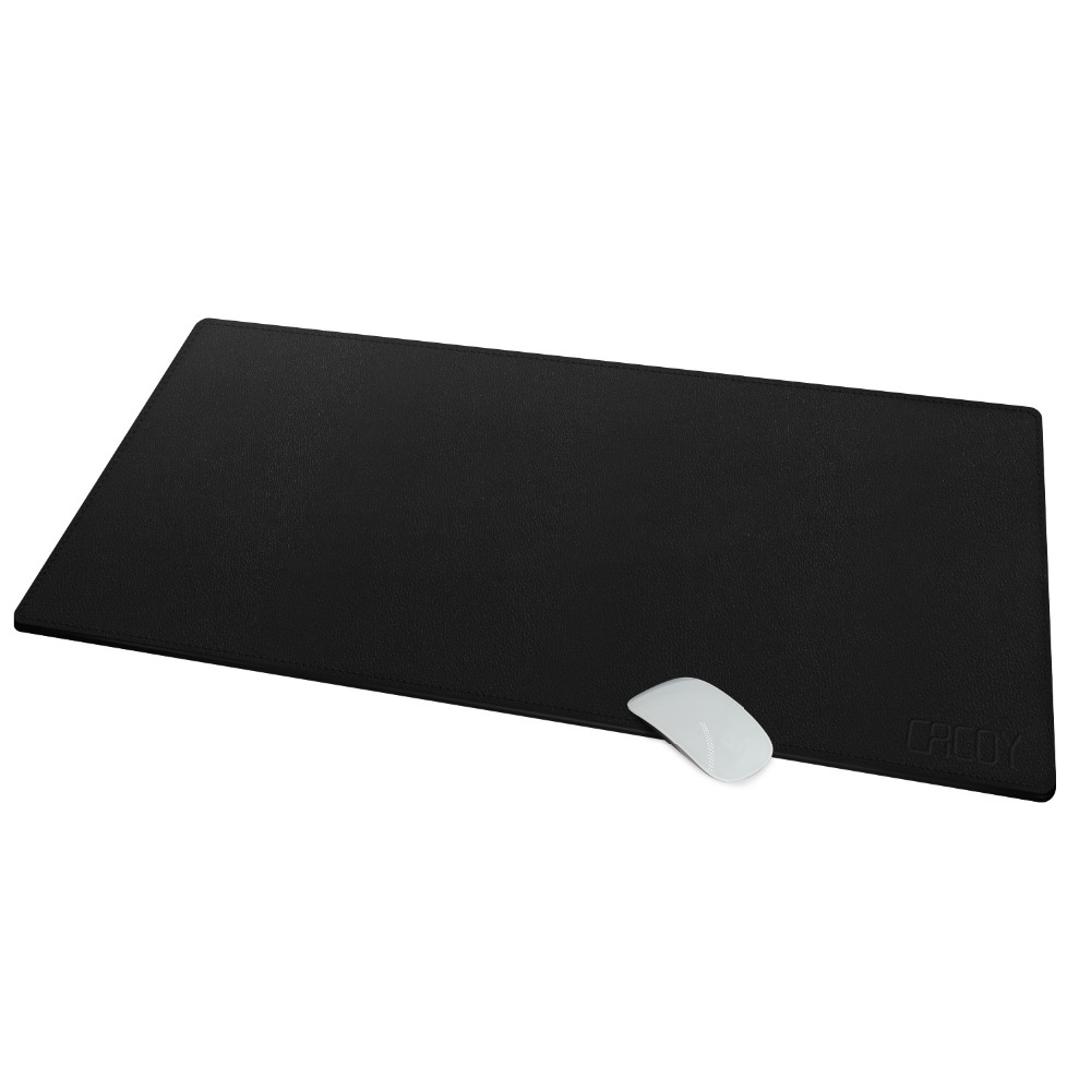 Extended Artificial Leather Mouse Pad / Mat- Size 100*40cm - CACOY Large Office Writing Desk Mat Gaming Computer Mousepad Rever