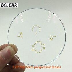 BCLEAR 1,67 ASP Anti radiación progresiva Multifocal forma libre lentes progresivo lente personalizada para ver lejos y cerca