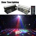 Good LED รูปแบบเลเซอร์ strobe 4 ใน 1 4 ตาภาพแสงใช้สำหรับ DJ disco club บ้านความบันเทิง KTV