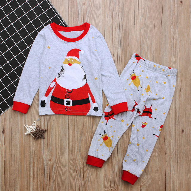 ... Deer Nightwear Pyjamas Set Sleepwear  sale retailer 42e48 45934 2 To  7Years Christmas Clothes Children Kids Nightclothes Autumn Winter Boys Girls  ... d8795425e