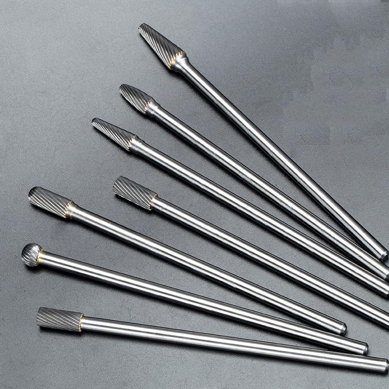 1pc Tungsten Carbide Milling Cutter Burr Bit 1/4