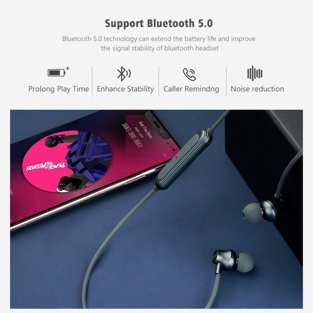 Image 5 - J2 bezprzewodowy zestaw słuchawkowy Bluetooth 5.0 słuchawki do Xiaomi iPhone wodoodporne słuchawki z pałąkiem na kark magnetyczny z Mic auriculares fone de ouvidoSłuchawki douszne i nauszne Bluetooth   -