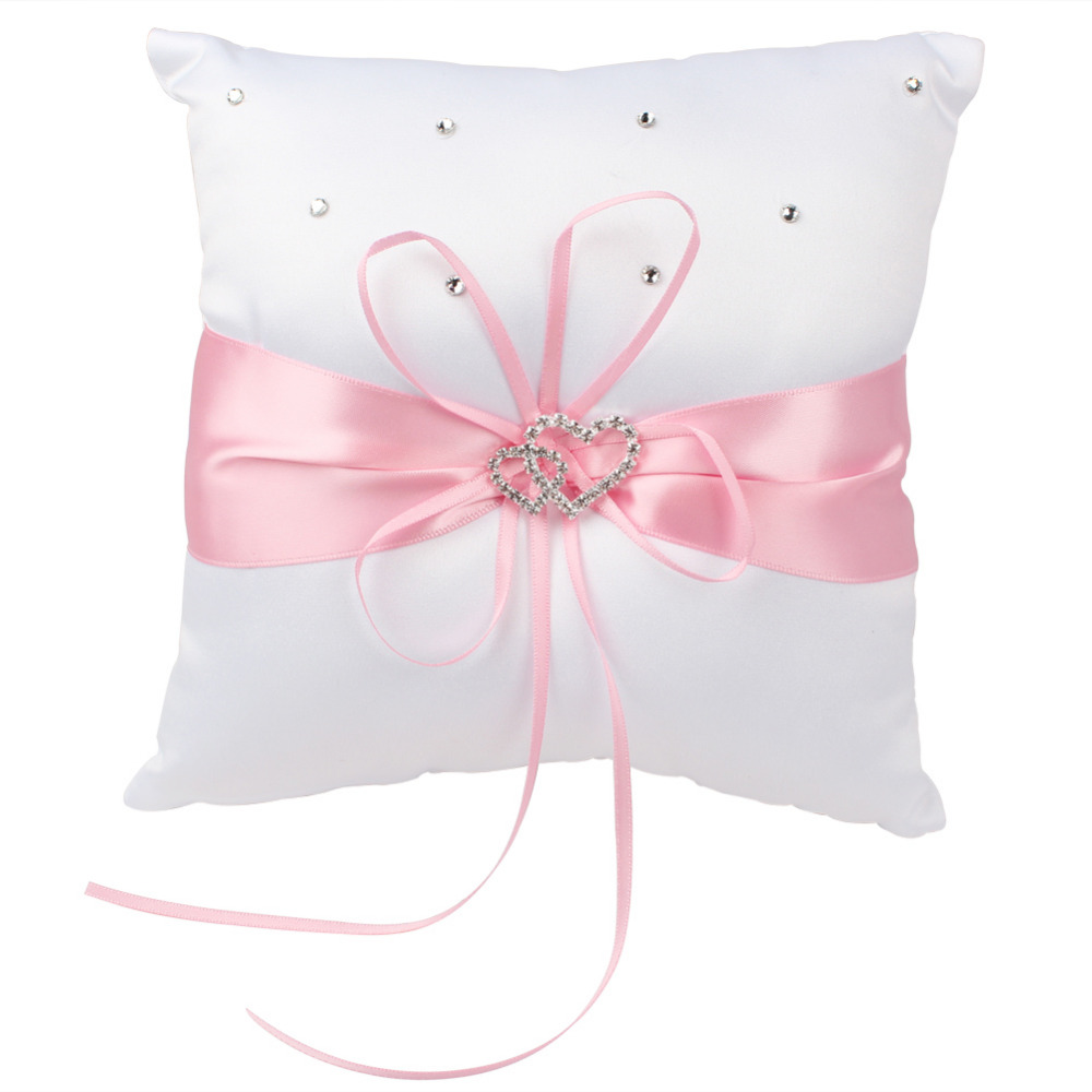 OurWarm Wedding Ring Pillow for Wedding Decoration 20 x 20cm Double ...