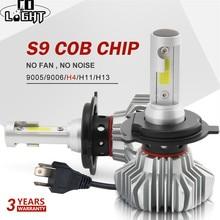 A luz h7 do diodo emissor de luz do diodo emissor de luz h4 conduziu as lâmpadas 12 v 24 v da névoa do automóvel do farol do feixe de hi lo da espiga 60 w para carros universais