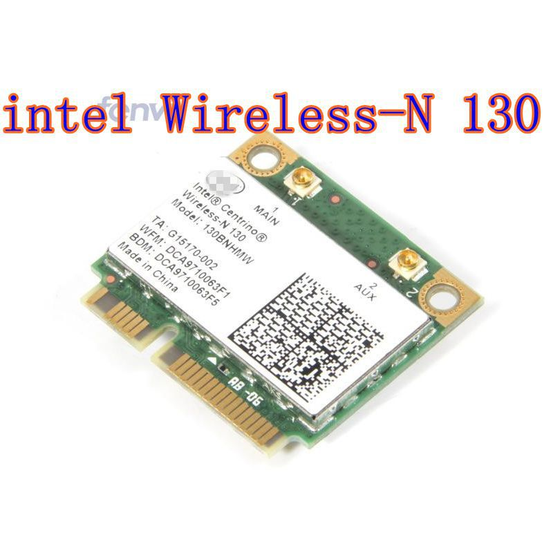 Intel Centrino Wireless-N 130 Wireless PCIe Half Mini Card With BT 3.0+WLAN Half Mini PCI-E 130BNHMW