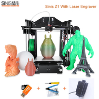High Precision Sinis Z1 3d Printer Option Laser Engraving 3d Printer Machine Reprap i3 3D Printer Kit With 1.75MM PLA Filament