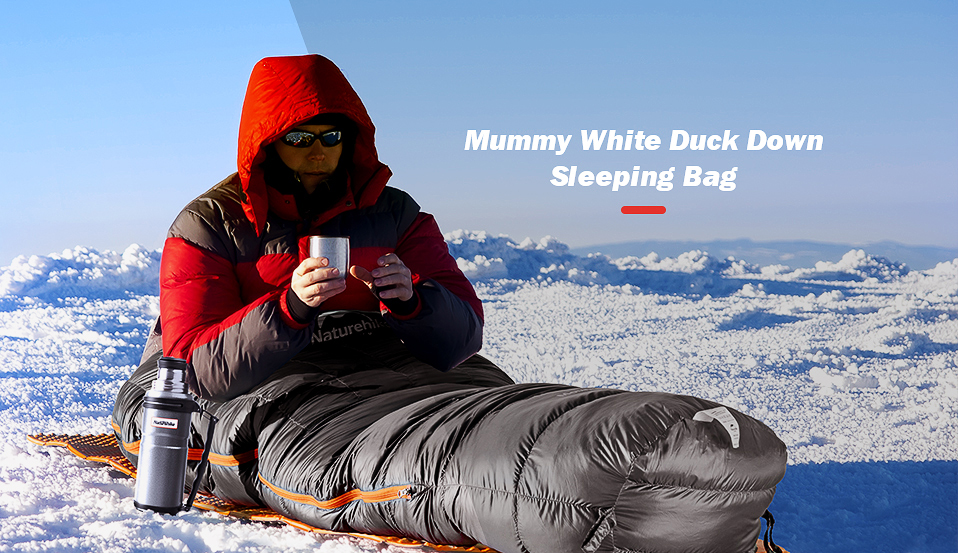 Naturehike inverno pato para baixo saco de