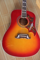 Atacado guitarra Acústica, personalizado China vermelho cereja hummingbird acoustic guitar estilo chibson guitarra eletrica