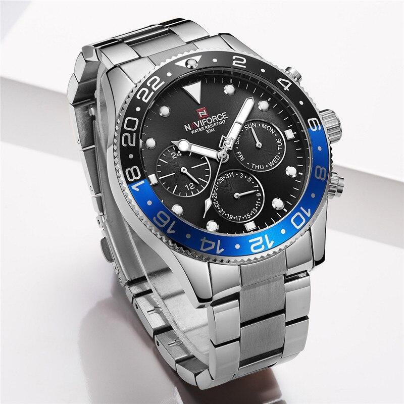 Relogio Masculino NAVIFORCE hommes montre Top marque de luxe Sport étanche militaire montre bracelet en cuir Quartz mâle horloge 9147-in Montres à quartz from Montres    2