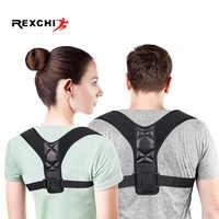 REXCHI Posture Corrector Adjustable Back Brace Shoulder Protector Belt Support for Men Women Gym Fitness Back Care Guard Strap