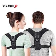 REXCHI Posture Corrector Adjustable Back Brace Shoulder Protector Belt