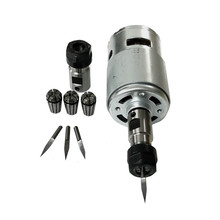 775 DC Motor 12 36V 4000 12000 RPM Ball Bearing Spindle Motor with ER11 Extension Rod Carving Knife for CNC Router Machine