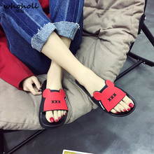 WHOHOLL Unisex Slippers PVC Home Sandals Shoes Man Women Candy Cartoon Indoor Antiskid Bathroom