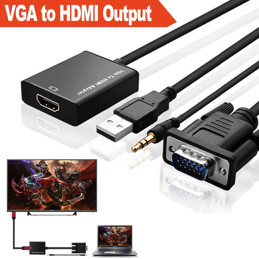 New Svga Vga To Hdmi Converter With 3 5mm Jack Audio