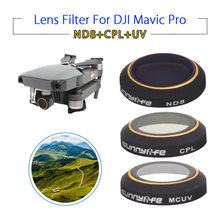 Sunnylife UV ND8 CPL HD Camera Lens Filters Protective 3pcs Accessories For DJI Mavic Pro Folding Drone