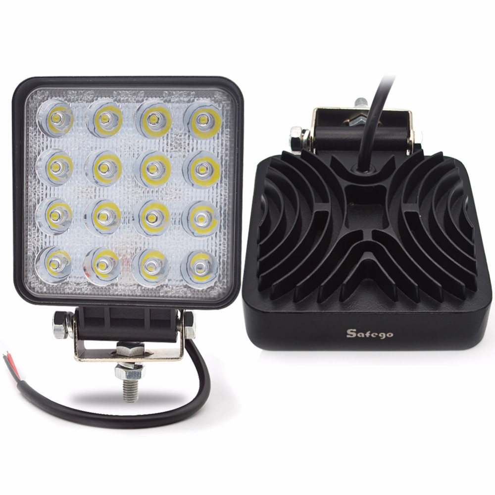 2X 4INCH auto 48W LED WORK -valo 12V led traktorin työvalot led ajovalo off road 4X4 sumuvalaisin 48W led WorkLight spottivirra