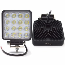 ФОТО 2pcs 4inch  48w  led work working drive driving light lamp epistar for offroad 24v 4wd boat suv truck trailer  48w worklight