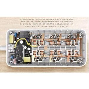 Image 5 - XiaoMi Mi Smart Power Strip 6 Ports with 3 USB Fast Charging 2.1A USB Power Plug Charger Socket US UK EU AU Power strip H15