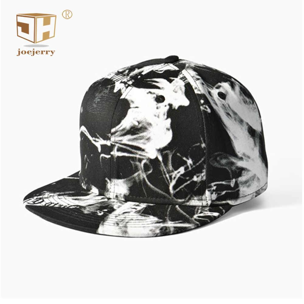 finest selection f5579 4764a joejerry Ink 3D Printed Baseball Cap Hip Hop Men Women Snapback Black White  Flat Cap Graffiti
