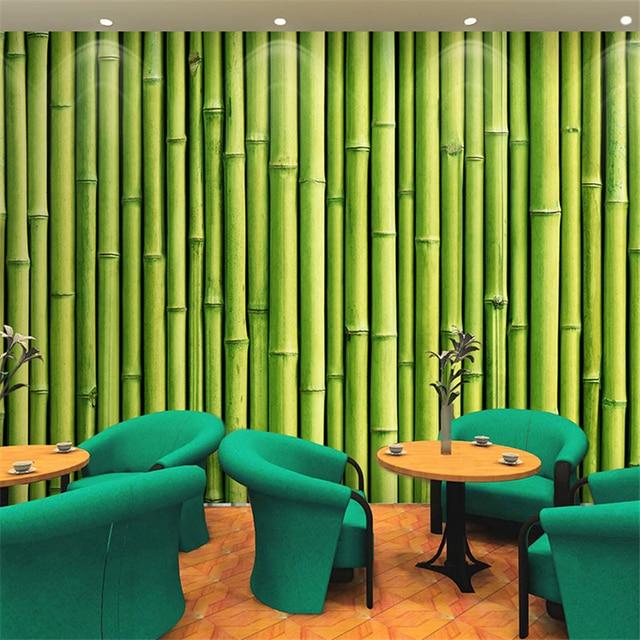 Beibehang freies verschiffen 3d bambus garten bambus tapete ...