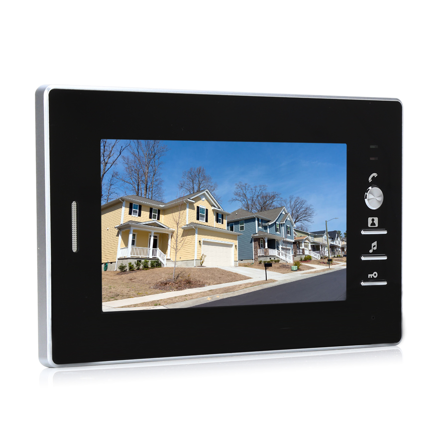 JEX 7 inch video intercom door phone system Only Monitor indoor Unit + Power Adapter FREE SHIPPING 721B jeruan 7 inch video intercom door phone system only monitor indoor unit power adapter free shipping 724