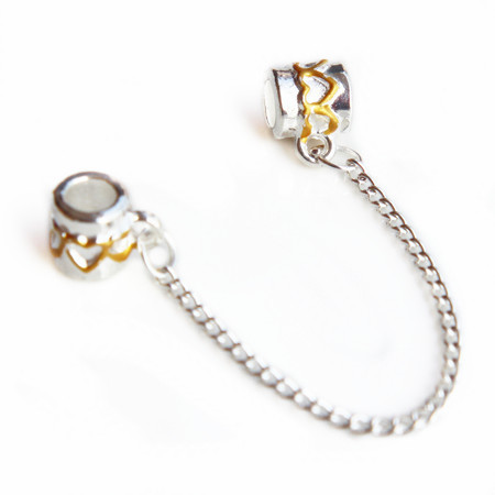 Couqcy fashion Silver Color Screw Hole Safety Snake Chain Charm Beads - Bisutería - foto 4