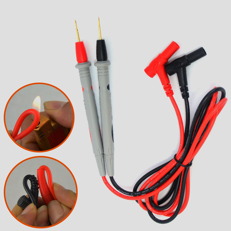 1 Pair Silicone Wire Pen Universal Probe Test Leads Pin For Digital Multimeter Needle Tip Multi Meter Tester Probe 20A 1000V NEW