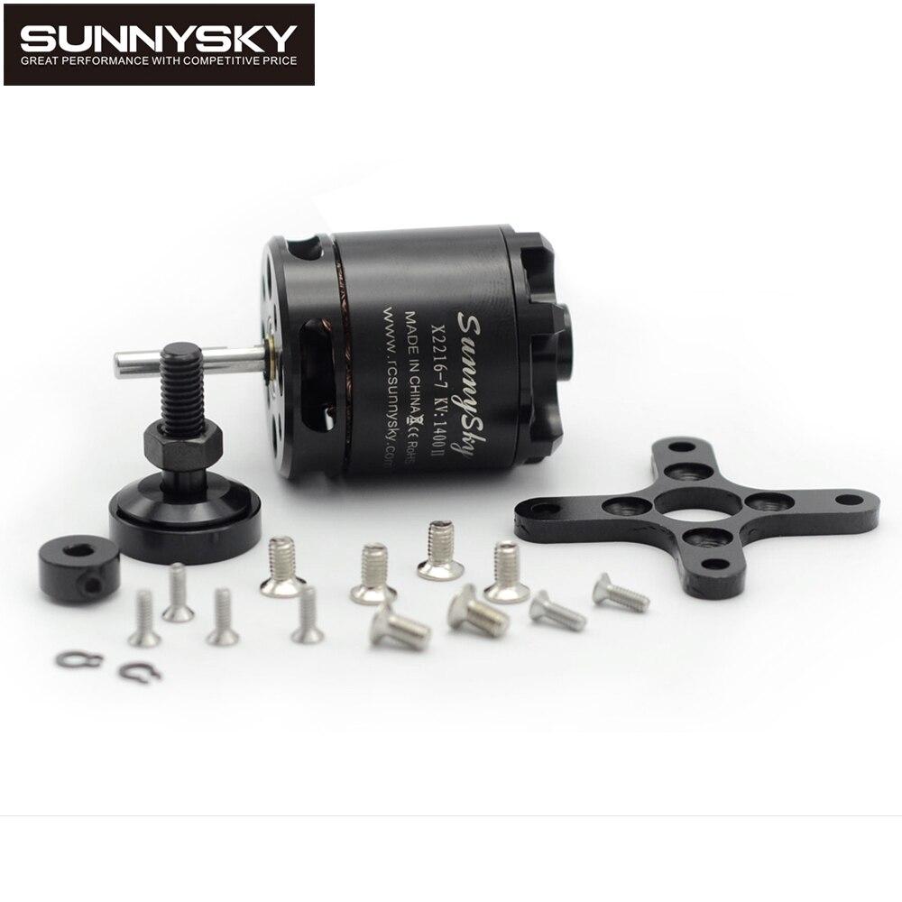 1 pcs SunnySky X2216 2216 880KV 1250KV 1100KV 1400KV 1800KV 2400KV II Outrunner Moteur Brushless Pour RC Modèles 3D avion