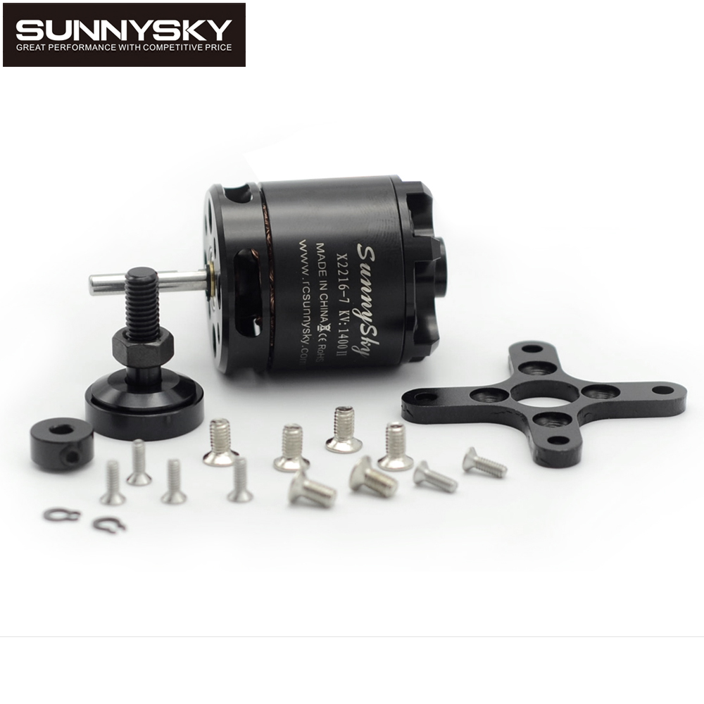 1pcs SunnySky X2216 2216 880KV 1100KV <font><b>1250KV</b></font> 1400KV 1800KV 2400KV II Outrunner Brushless Motor For RC Models 3D airplane image