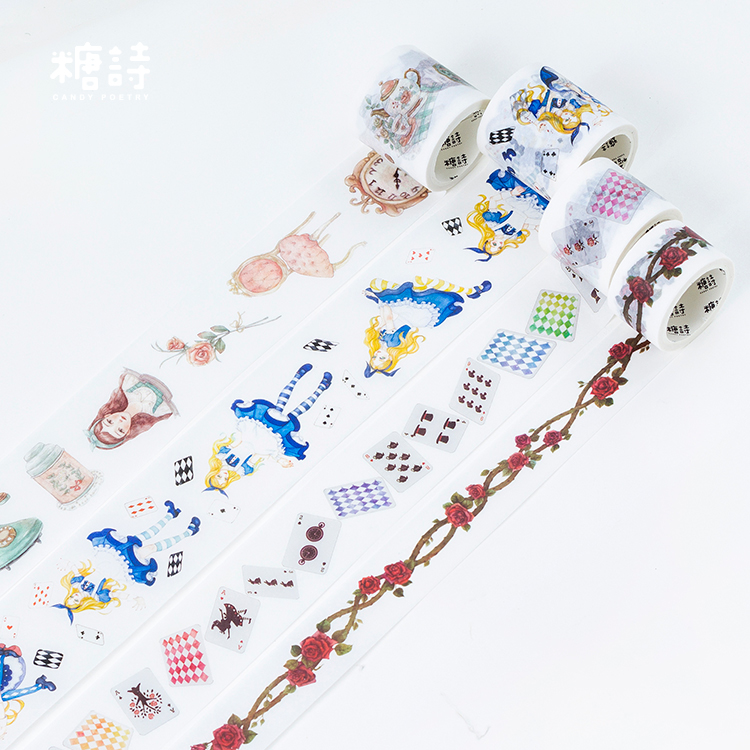 Alice World Washi Tape Adhesive Tape DIY Scrapbooking Sticker Label Masking Tape Japanese Stationery